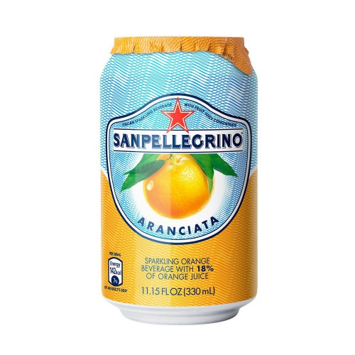 San Pellegrino Flavoured Aranciata Dolce 24x330mL Can